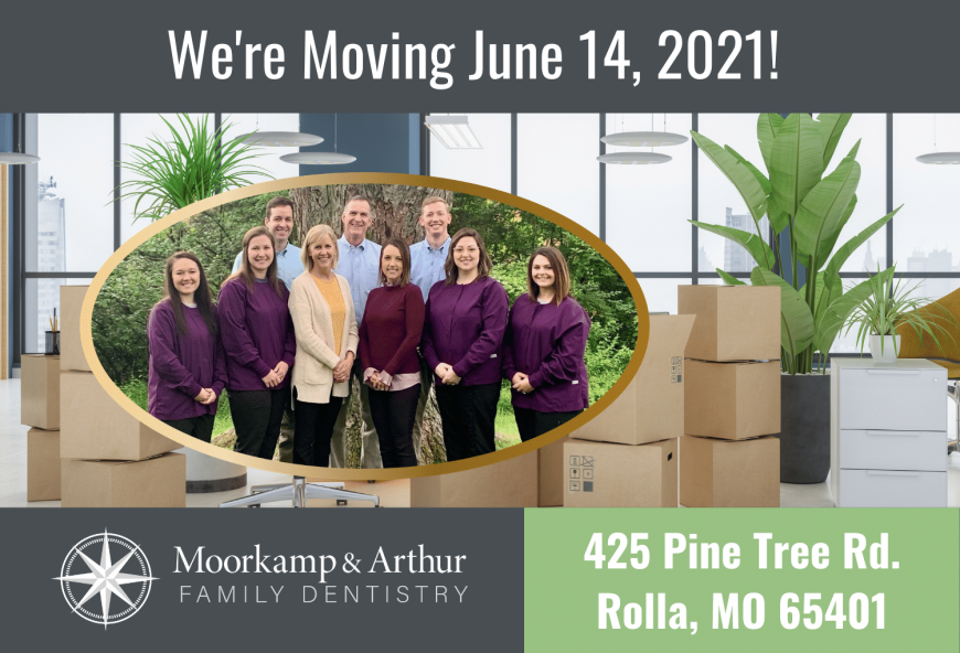 Moorkamp & Arthur Family Dentistry is Moving June 14 2021 to 425 Pine Tree Rd Rolla MO 65401